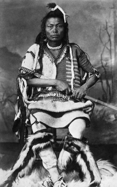 Blackfoot warrior, ca. 1887.