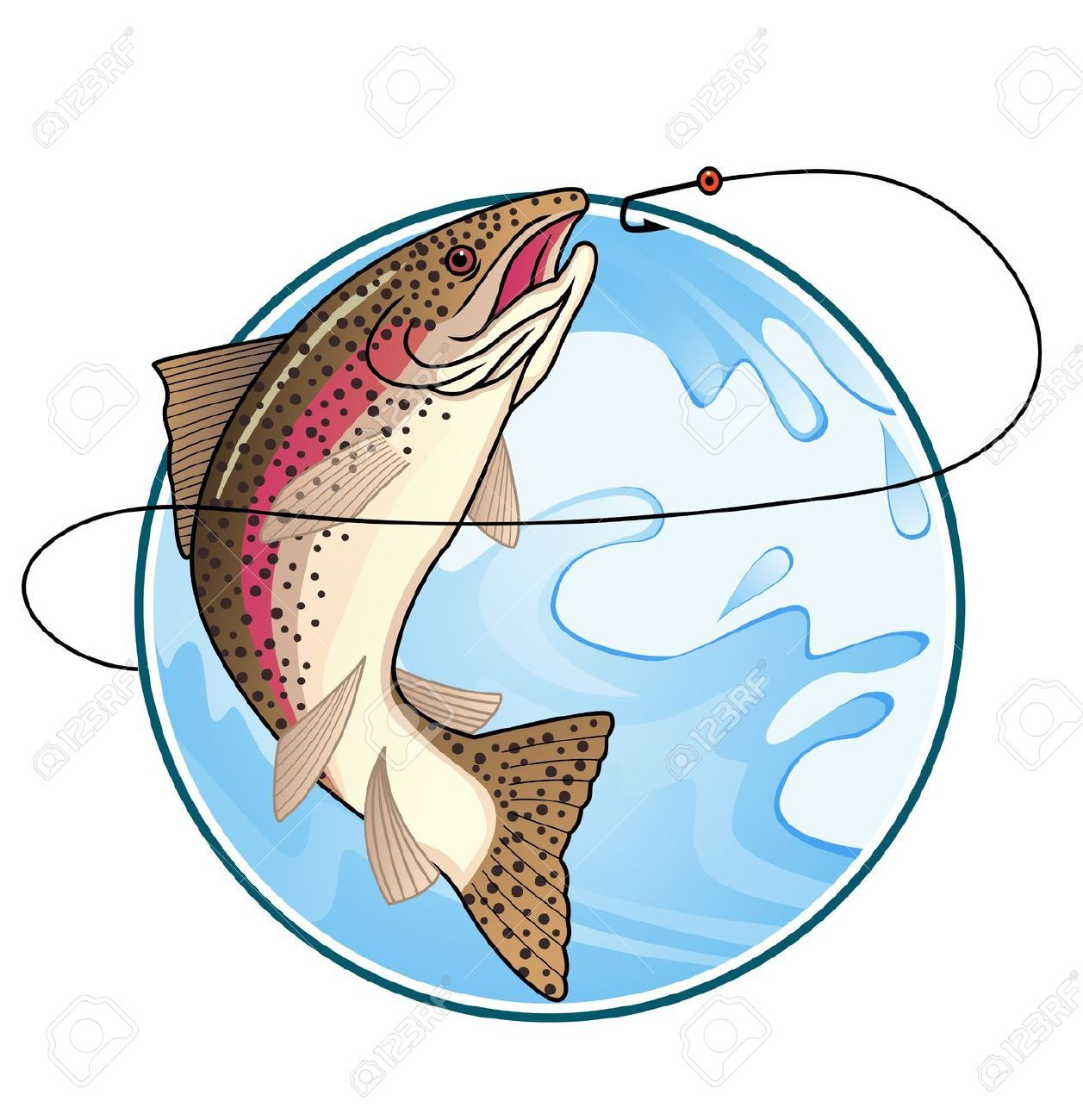 image result for trout jumping out of water pinterest rh pinterest com trout fish clipart Trout Fishing