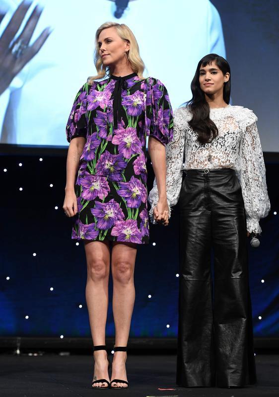 Charlize Theron and Sofia Boutella · Sofia BoutellaAtomic BlondeCharlize  Theron