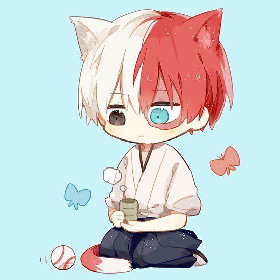 My Hero Academia Todoroki Chibi Sticker By Xiaokoong Cute Anime Chibi Cute Anime Character Chibi