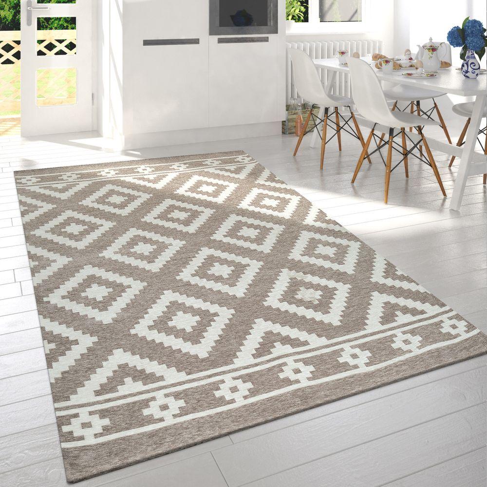 Kurzflor Teppich Skandi Rauten Muster Beige Mit Diesem Teppich Zaubern Sie Einen Hauch Von Idyllische Teppich Wohnzimmer Teppich Skandinavisch Teppich Design