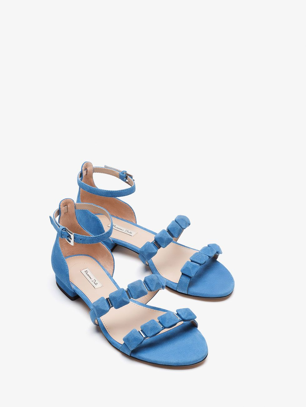 Massimo Todo Azul Piel Zapatos Sandalia De Ante Mujer Ver NnwO8vm0