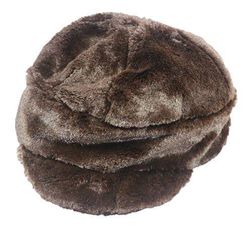 Nine West Women s Faux Fur Newsboy Hat One Size Chocolate Brown ... 6decc624ef6