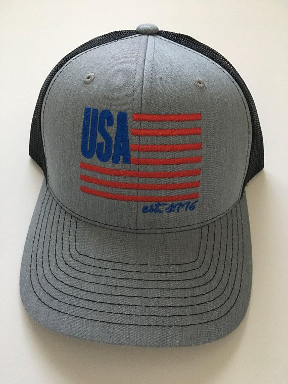USA Hat  Patriotic Hat  Home Hat  USA Hat  4th of July Hat