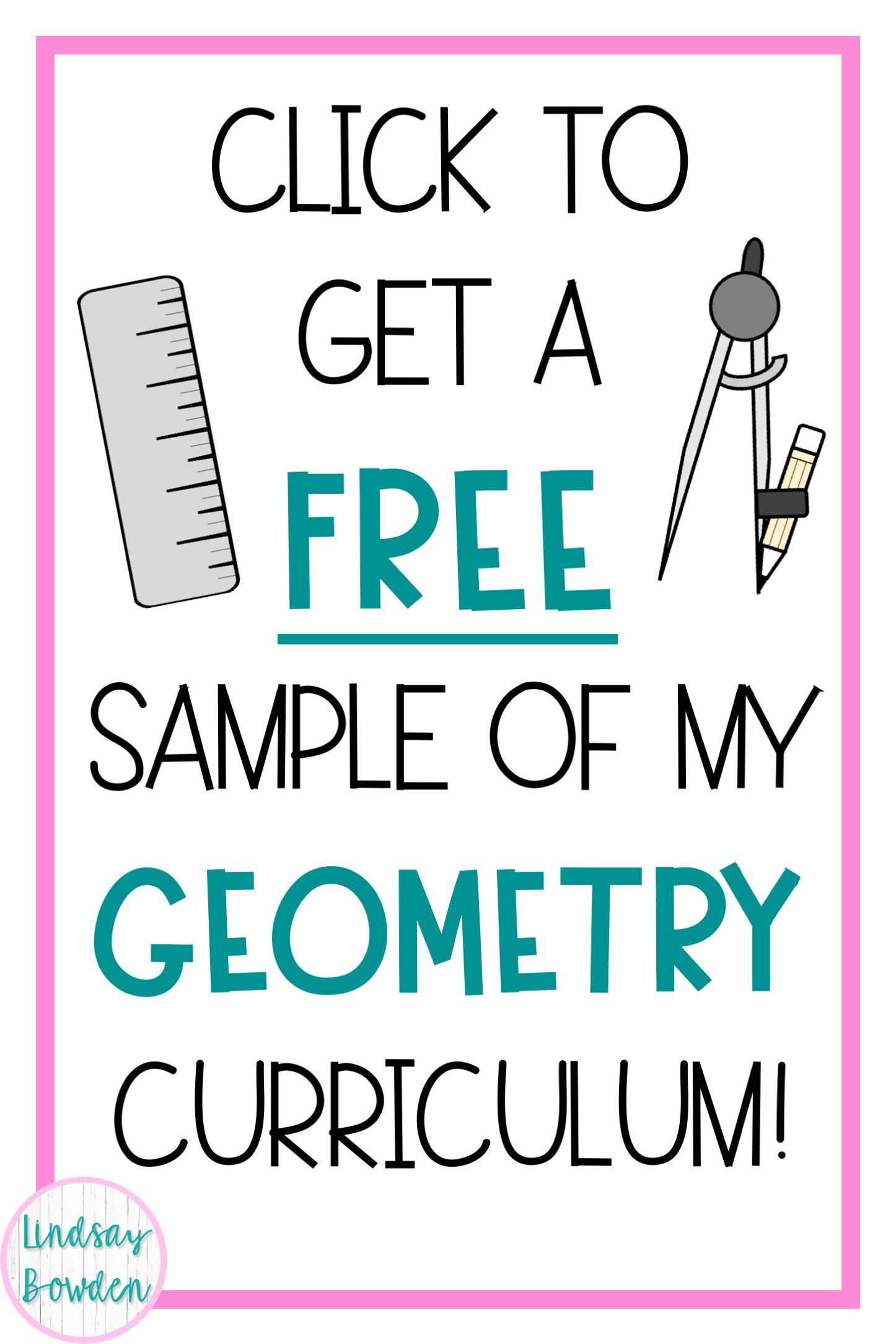 Get A Free Sample Of My High School Geometry Curriculum