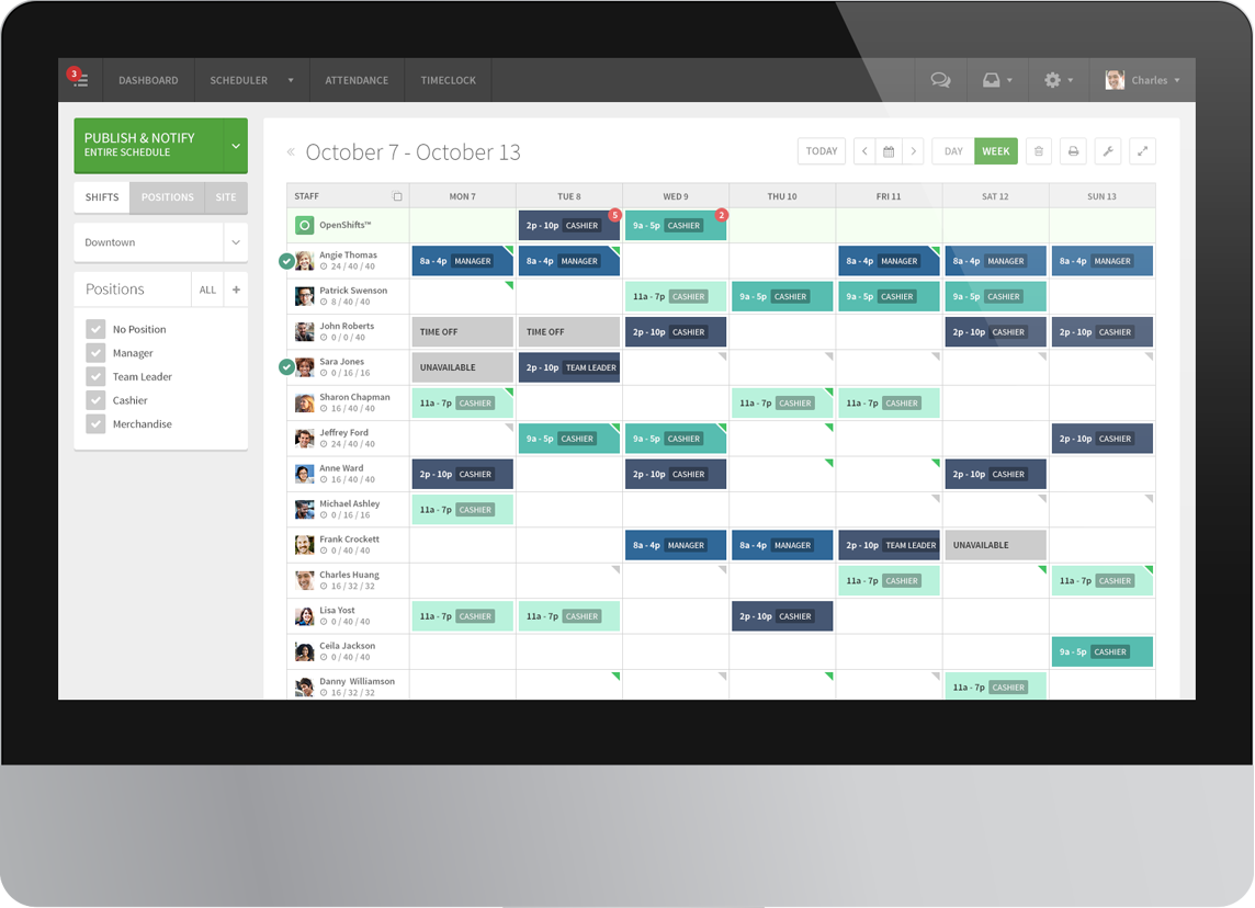When I Work | Employee scheduling software manage hourly workforce ...