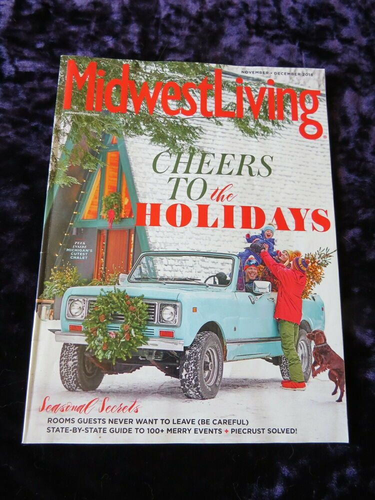 Midwest Living Nov Dec 2018 ⭐ Xmas events Magazine Issue holiday