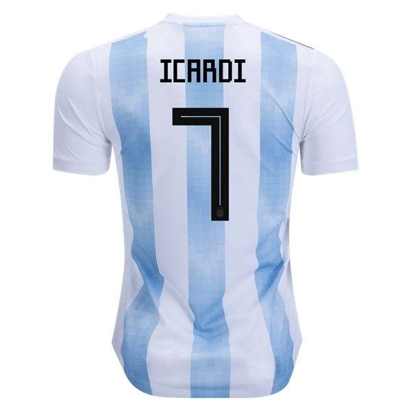 adidas Mauro Icardi Argentina Authentic Home Jersey 2018-s ... 370ec1f39