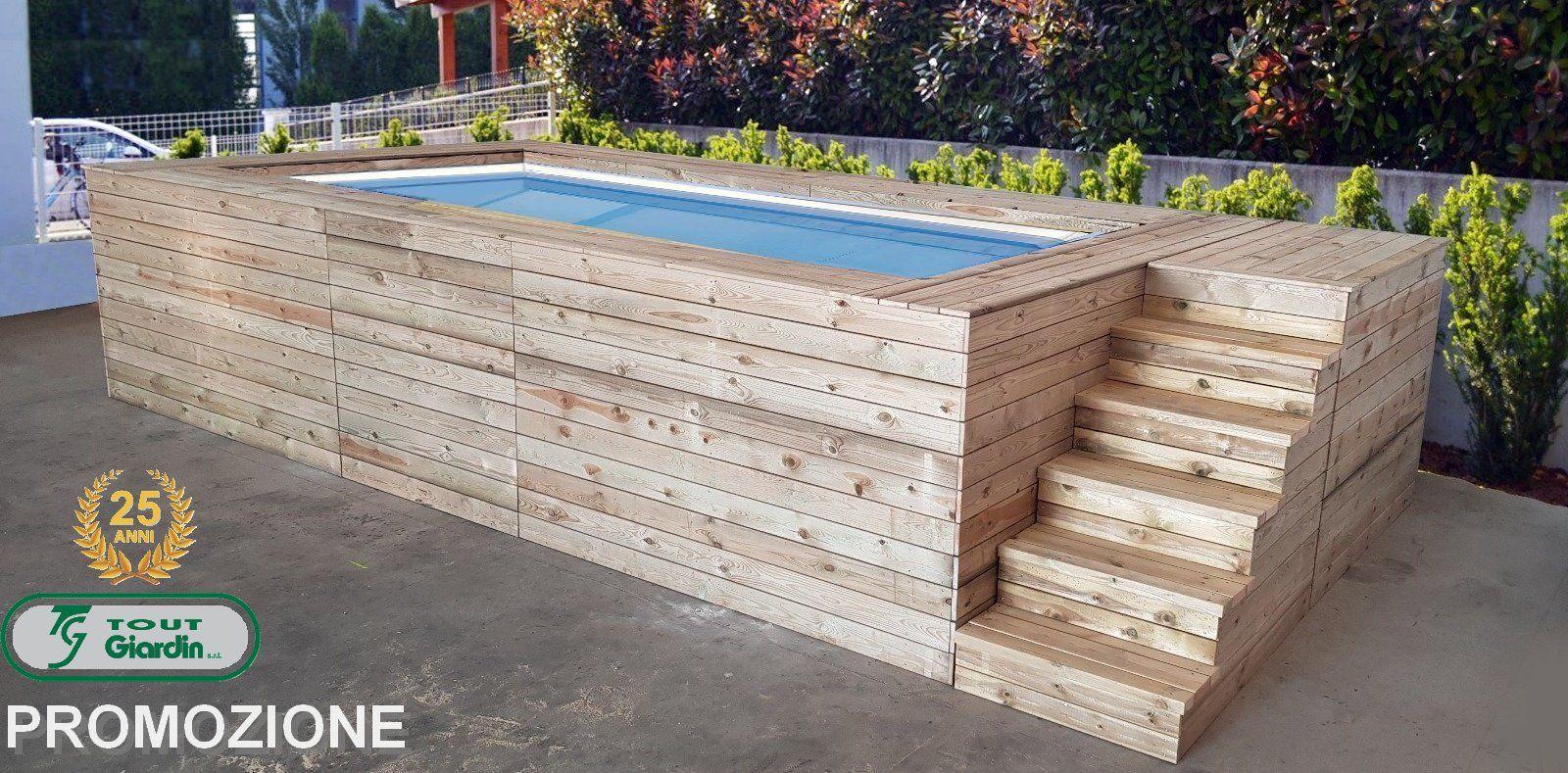 Piscine Da Esterno Rivestite In Legno promozione 25 anni: piscina fuori terra con rivestimeto