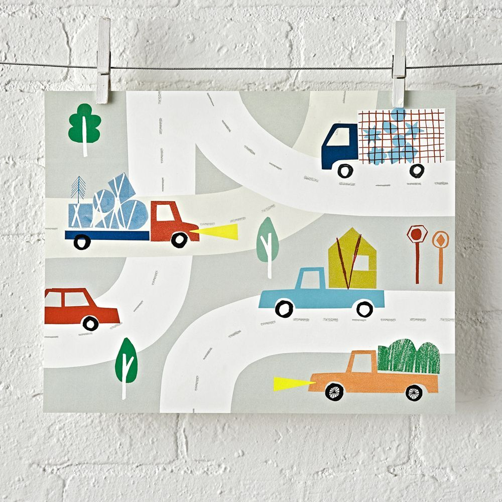Car and truck unframed wall art walls and products