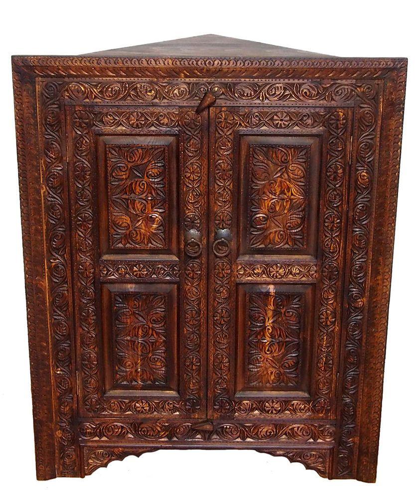 antik-look orient schrank eckschrank Kommode Corner cabinet Nuristan ...