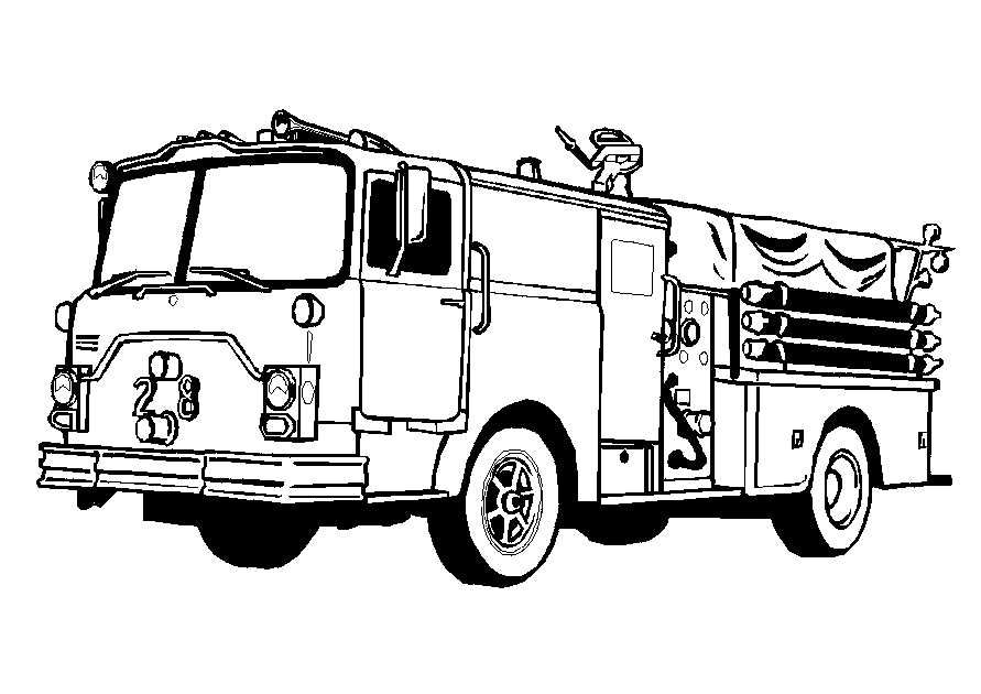truck-coloring-pages-1.jpg (891×630) | Vehicles | Pinterest