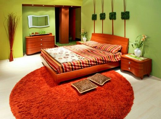orange bedroom colors. Bedroom Designs, The Swell White Floor Ceramic Material Best Paint Colors Good Green Wall Painting Fuzzy Orange Carpet: Natural And Light