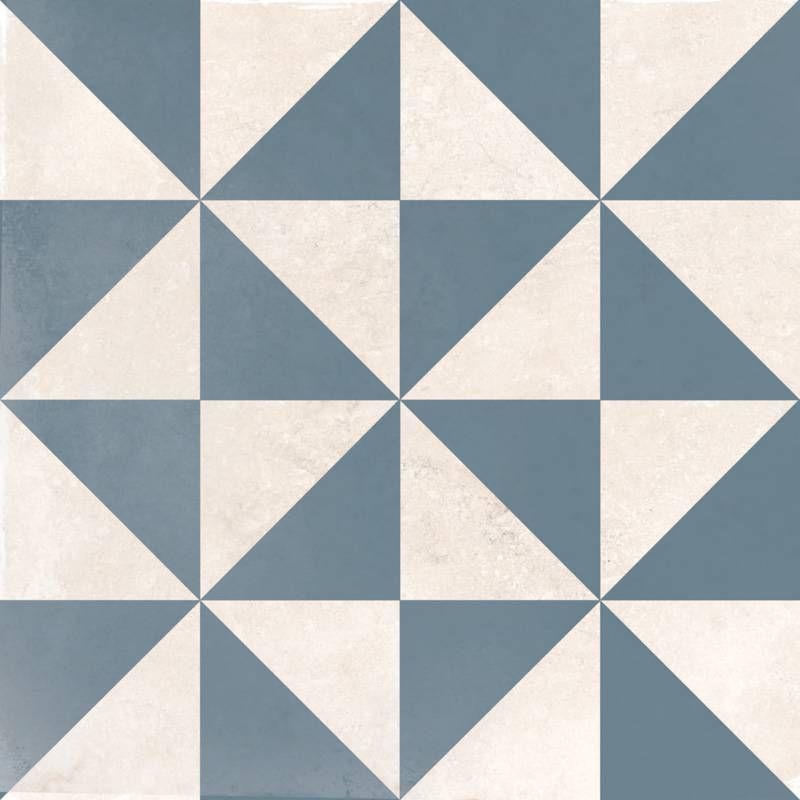 carrelage gr s c rame 25 x 25 cm ancien motifs g om triques bleus et blancs do1713003 en. Black Bedroom Furniture Sets. Home Design Ideas