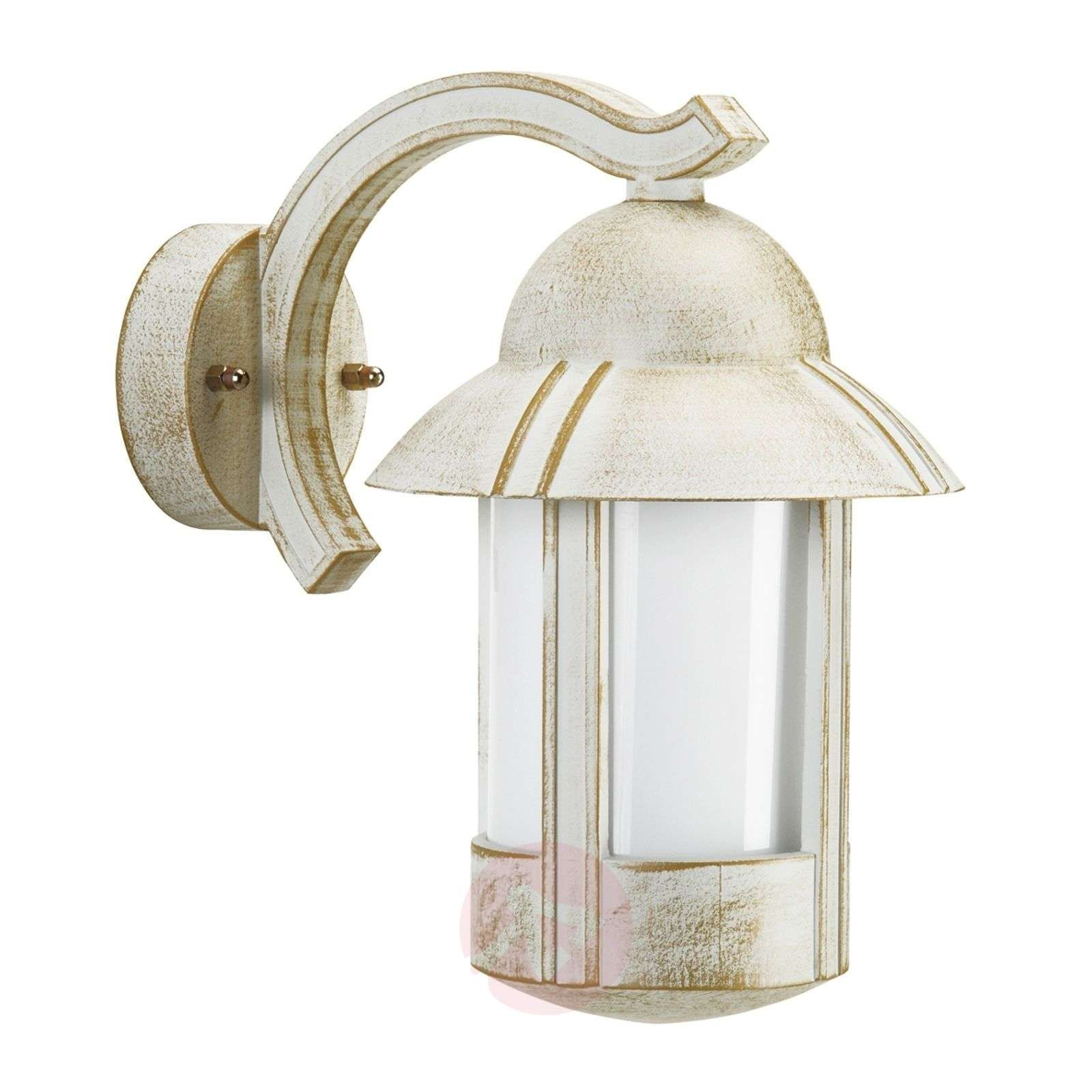 lampy zewnętrzne z czujnikiem stare złoto