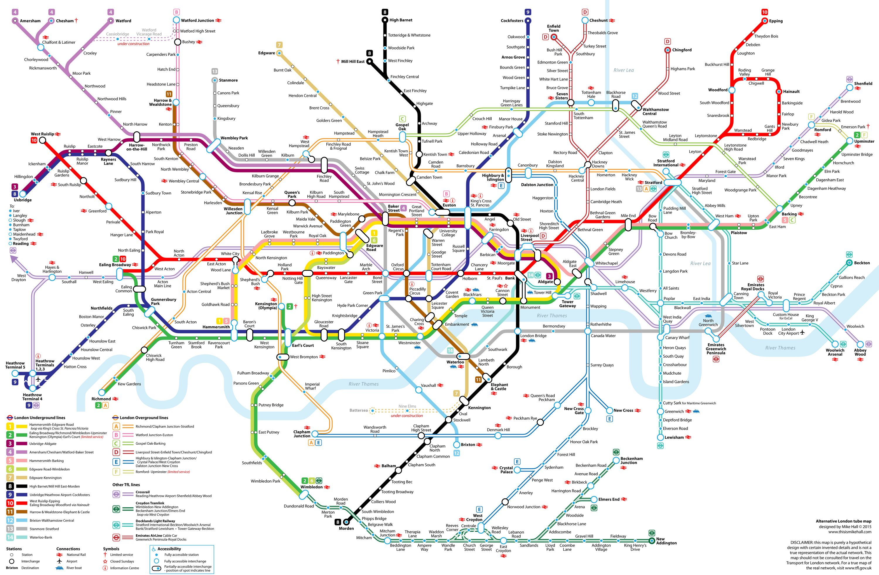 London Line Map.Alternative London Underground Tube Map Has Replaced The Underground