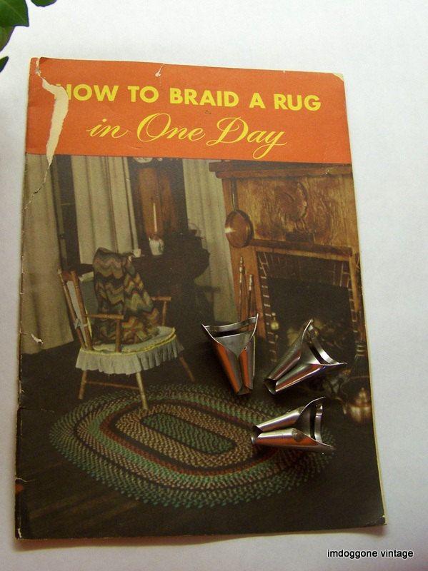 Vintage Rug Braiding Folders Nu Flex Corp 1940s Braided Tools Pamplet