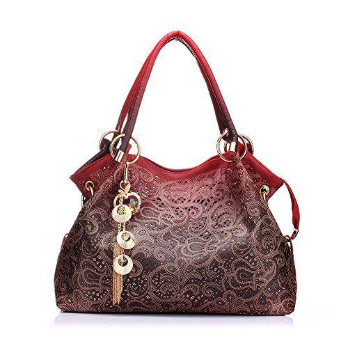 ad2f8e7541 Realer Women s Handbag Tote Purse Shoulder Bag Pu Leather... https