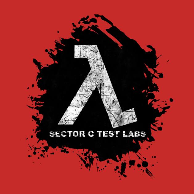 Half Life Sector C Test labs Lambda Logo - Shirt | TeePublic