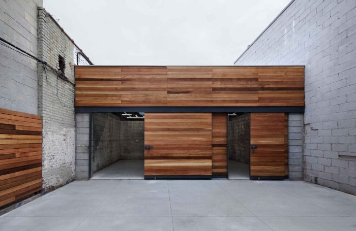 High Quality Dameron Architecture In Brookyln, New York Created A Motorcycle Garage  Space And Garden In Bushwick