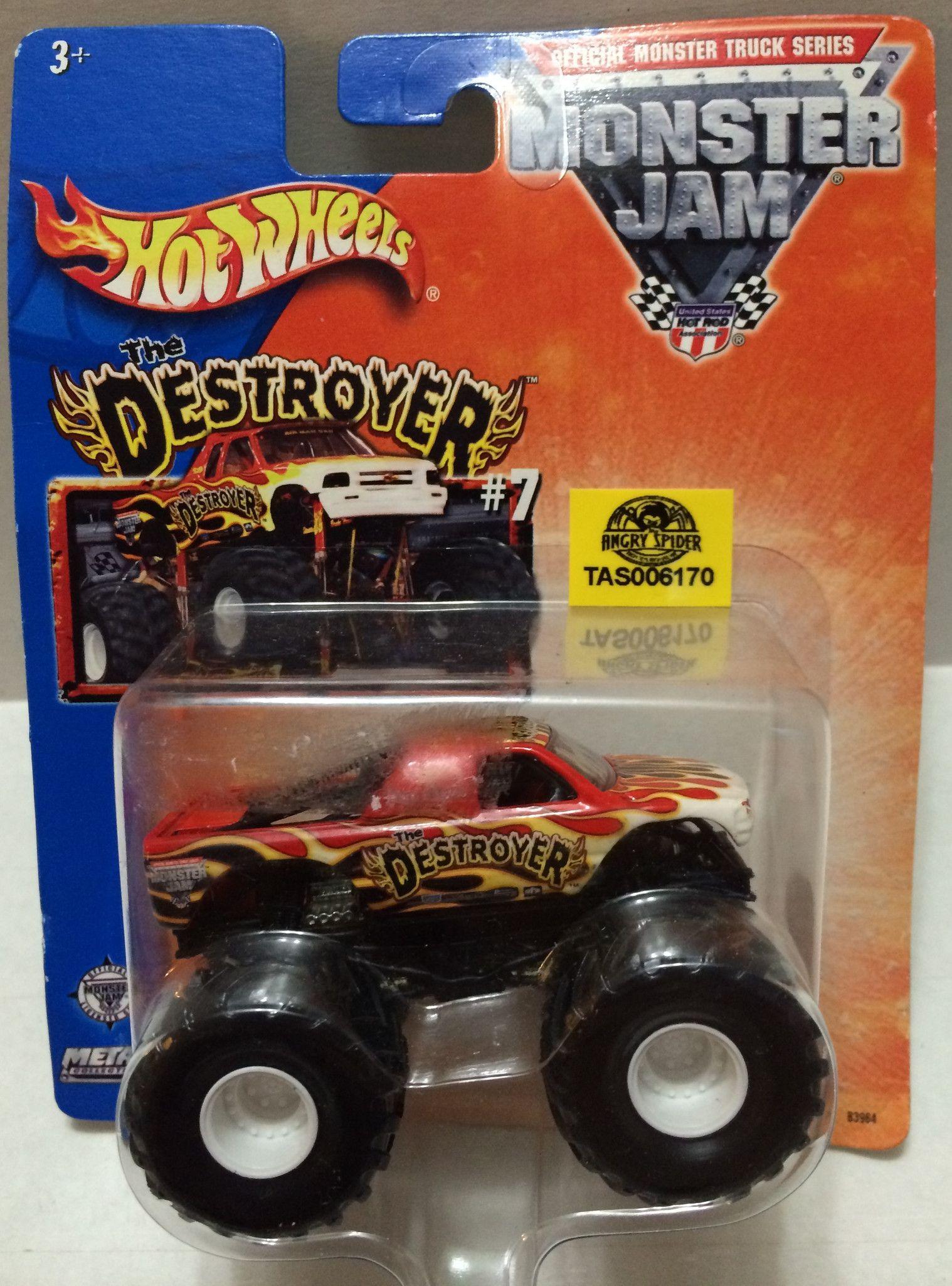 Mattel legends 1 24 1969 hot wheels twin mill concept car electronic -  Tas032312 2013 Mattel Hot Wheels Monster Jam The Destroyer Die Cast Truck