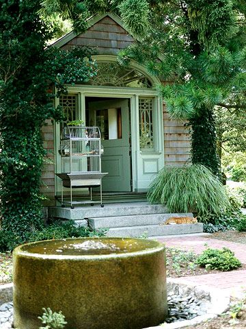 A Gallery of Garden Shed Ideas Water features, Water and Gardens