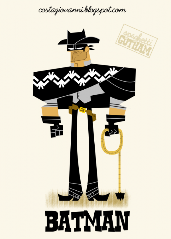 What if Batman starred in his very own Spaghetti Western?