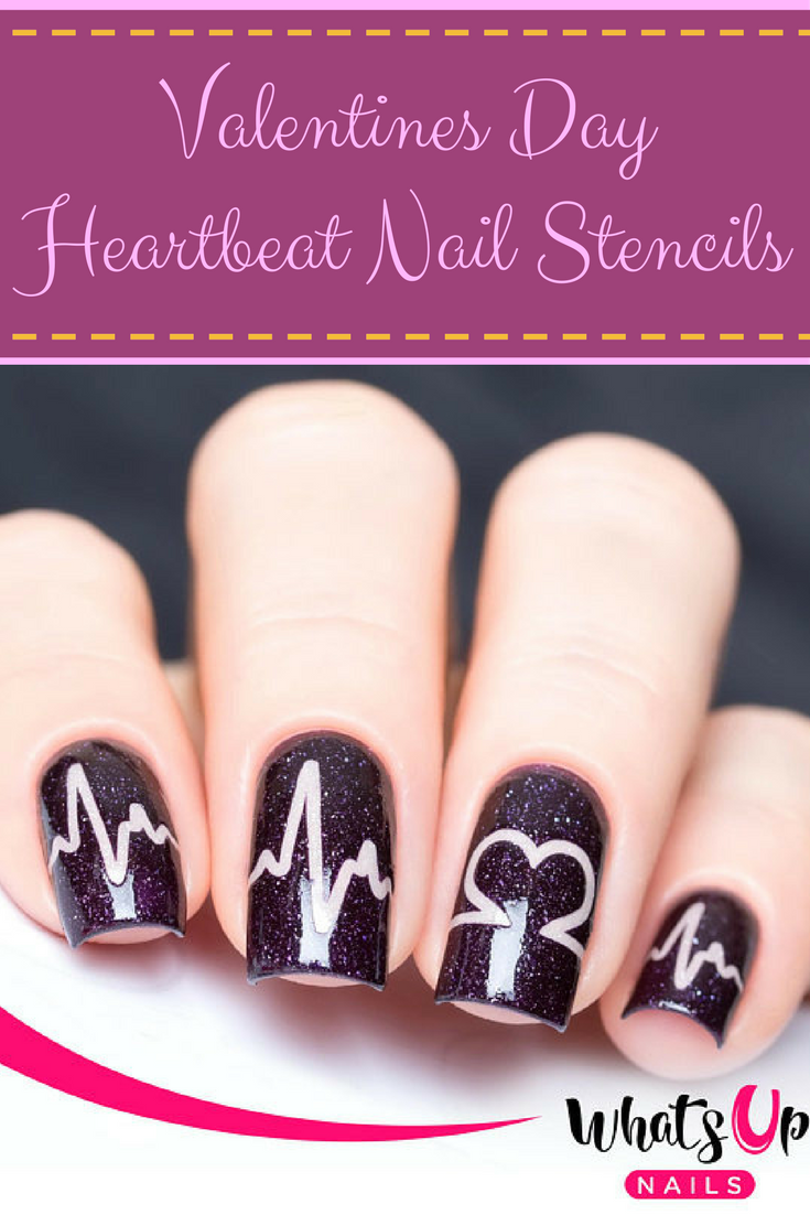 Get Gorgeous Nail Art This Valentines Day Design Your Own Nails With Easy To Use Stencils Is Such A Cute