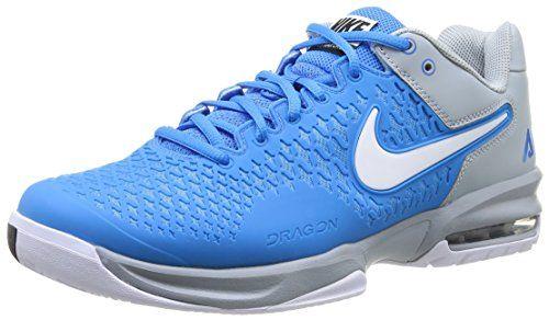 NIKE Air Max Breathe Cage Men's Tennis Shoes, Grey/Blue ...