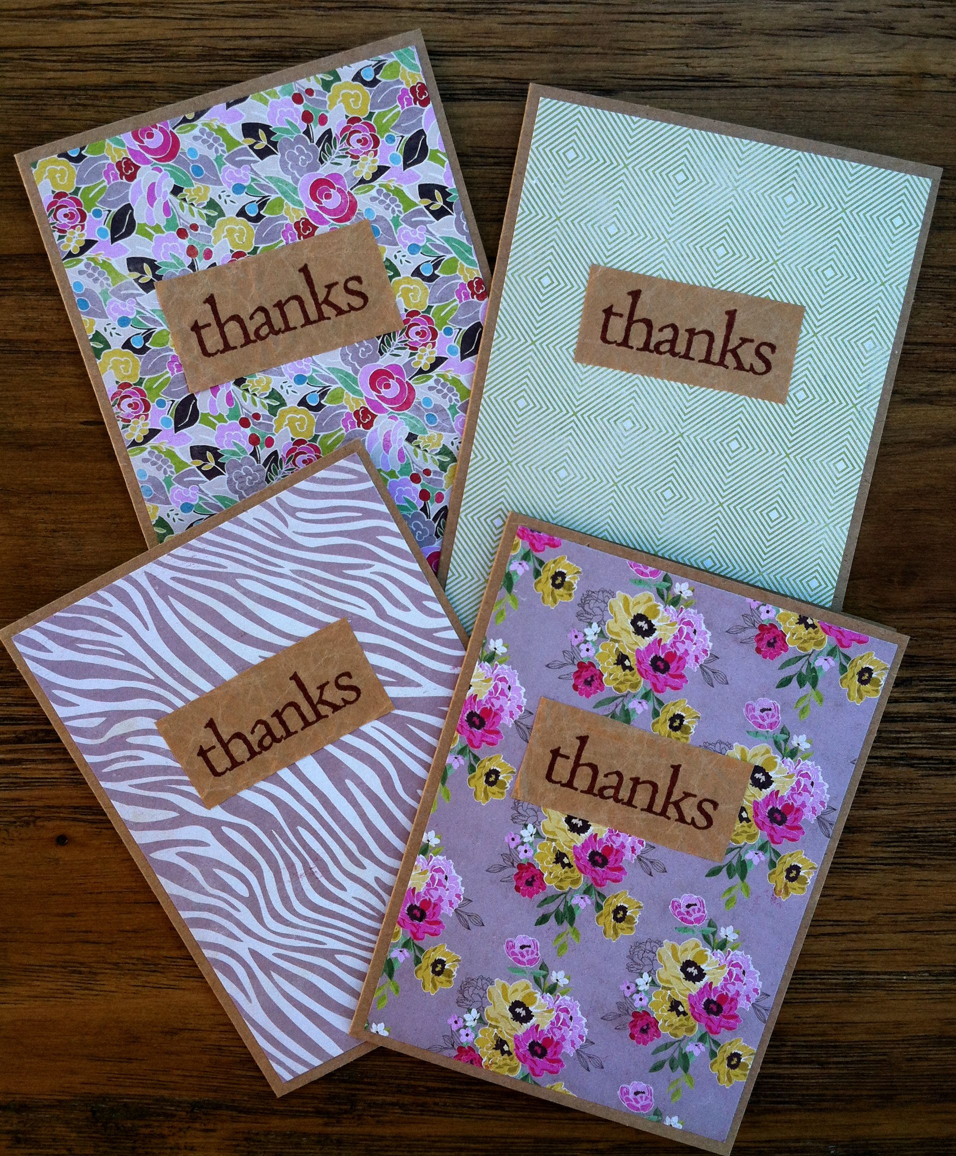 Handmade Thank You Cards With Images Handmade Thank You