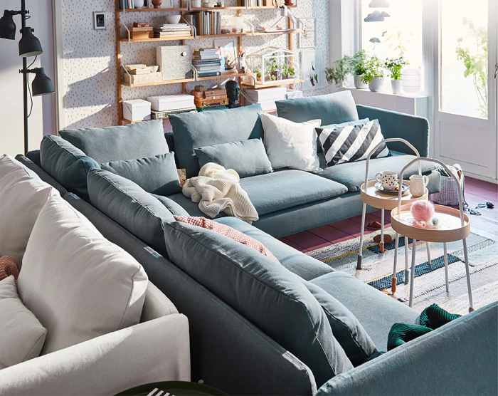 SÖDERHAMN Series Sofa Covers IKEA Living room planner