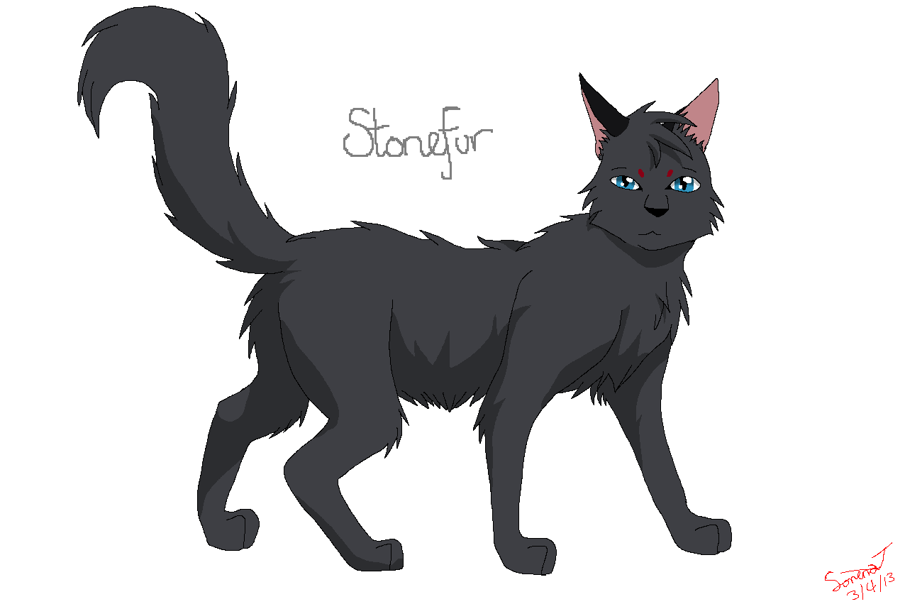 Simple cat lineart : Greystripe by spookyspector warrior cats