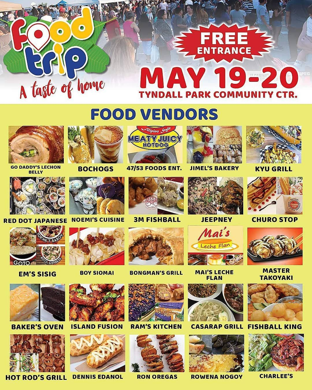 Food Trip Winnipeg A Taste Of Home Tyndal Park Community Center Food Vendors Poster North Winnipeg Manitoba Canada Food Canada Food Best Filipino Recipes