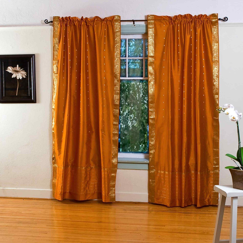 Orange Vorhänge Für Schicke Fenster Behandlung Und Abdeckung | Möbel ...