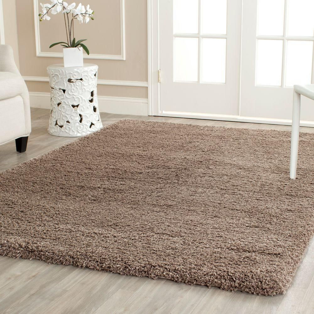 rug for living room size%0A Safavieh California Shag Taupe    ft  x    ft  Area Rug