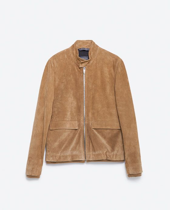 ZARA BEIGE SUEDE JACKET | Jackets, Suede jacket, Leather jacket