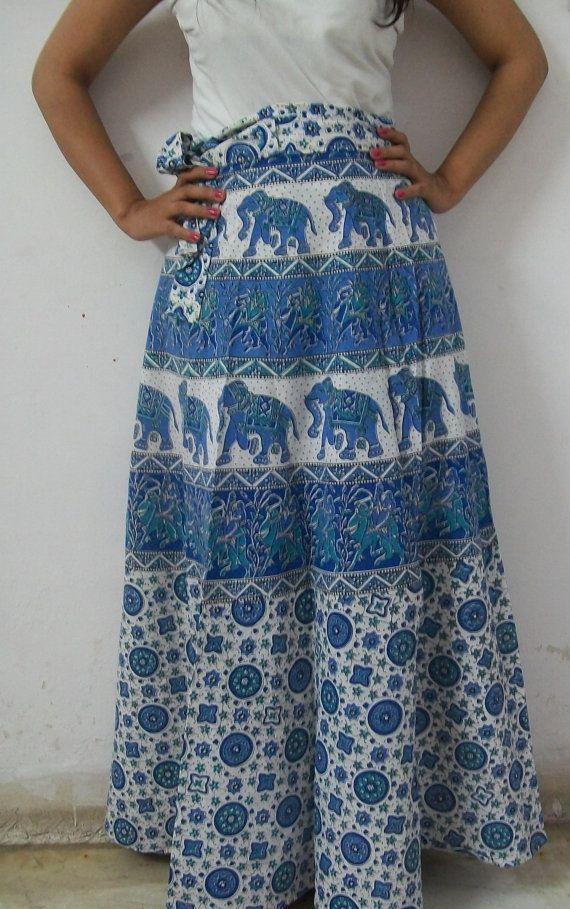 5df731715 Vintage Cotton Wrap Around Skirt   So Sew   Wrap around skirt ...