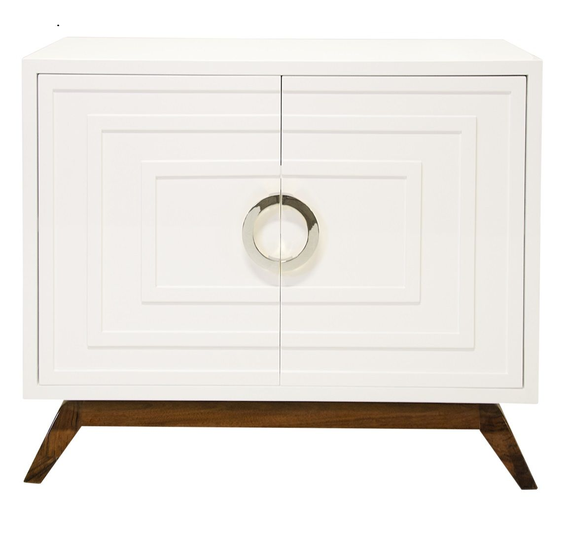 Limited Production Design Stock Elegant White Bedside Cabinet