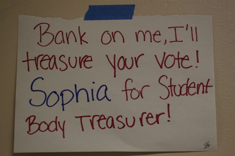 student council treasurer posters Google Search