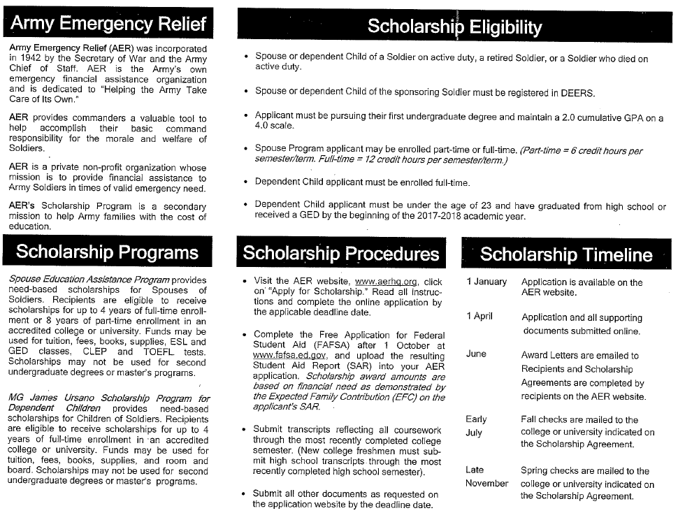 AER Scholarship Guide 2017 2 Chief of staff, Financial