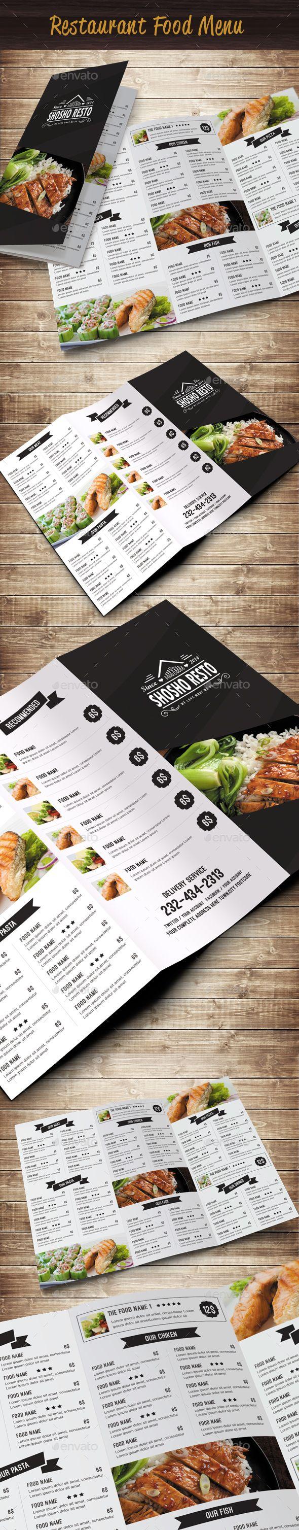 Restaurant Food Menu | Speisekarte, Flyer vorlagen und Karten design