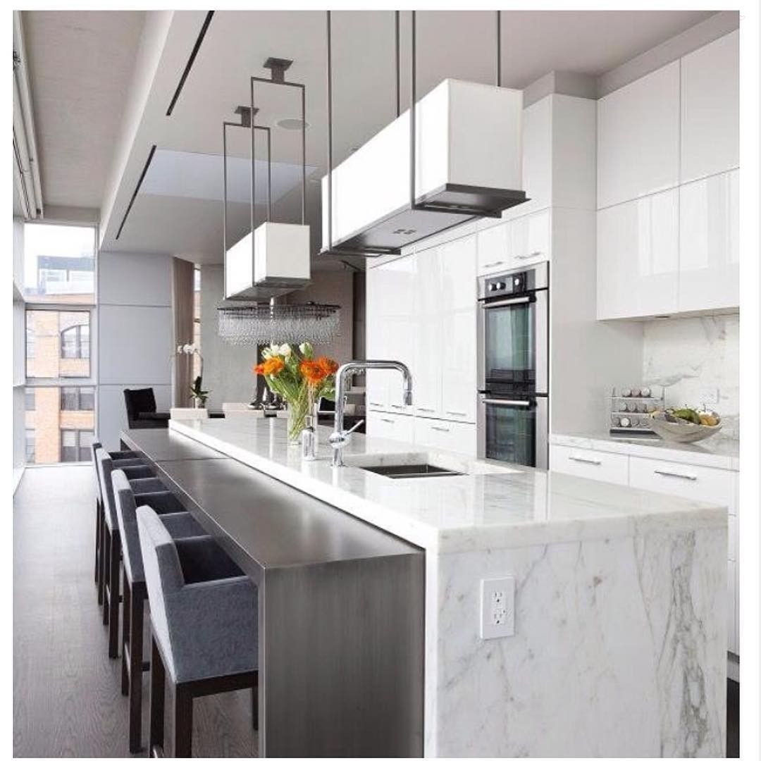 A beautifully designed tribeca penthouse kitchen by