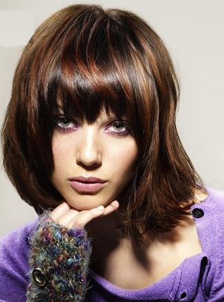 warm brown hair with subtle reddish highlights for added