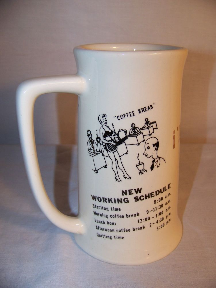 office coffee cups. Fine Office Coffee Mug  Vintage Cup Stein Risque Humor 95 Office Hours Pinup Girl In Cups U