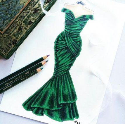 Trendy fashion drawing dresses sketches haute couture ideas