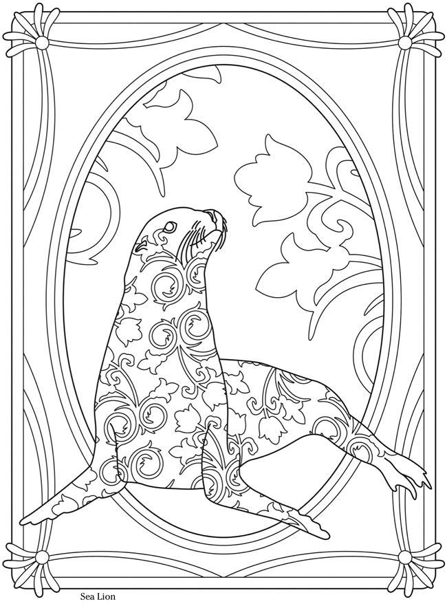 Creative Haven Sealife Sea Lion--Welcome to Dover Publications ...