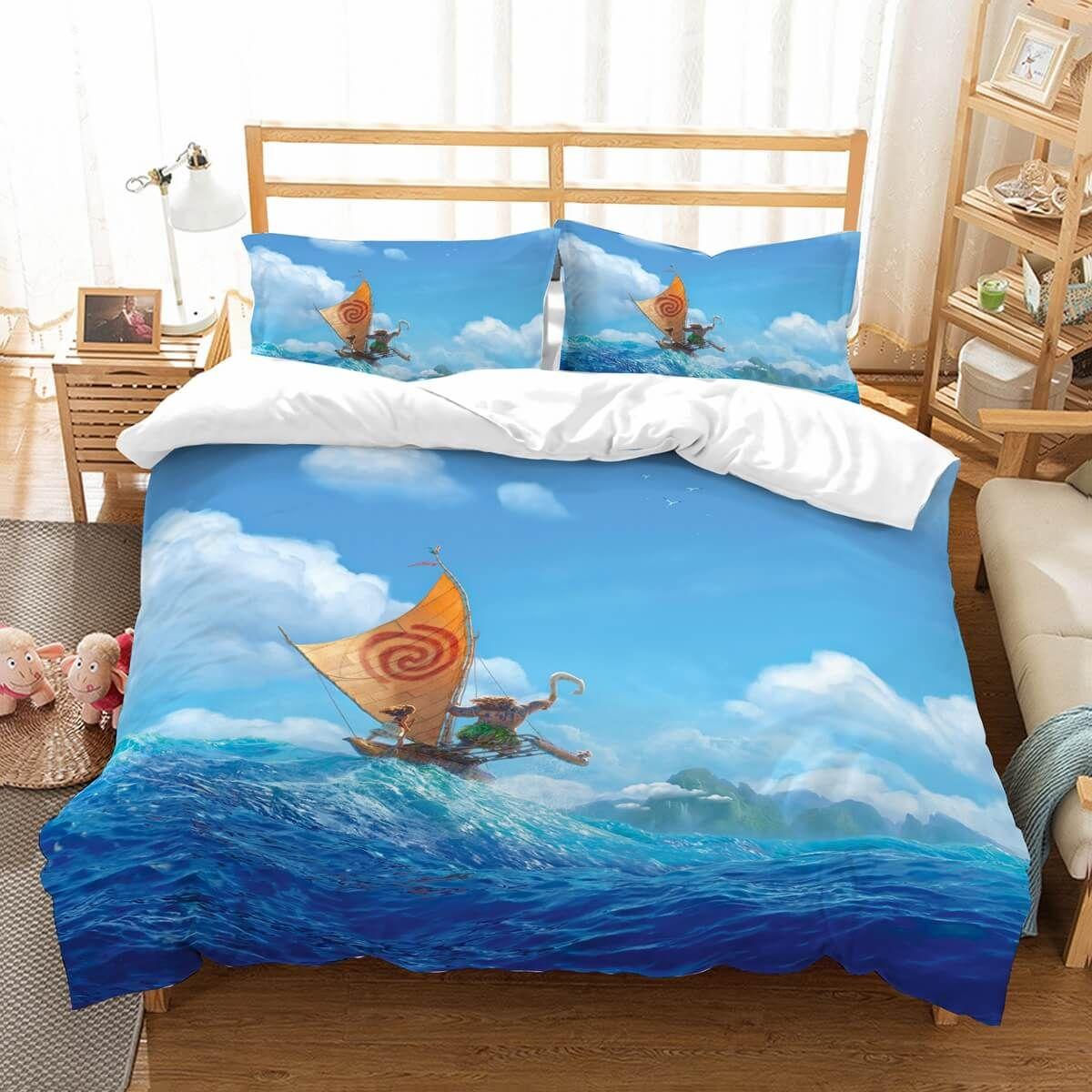 3d customize moana bedding set duvet cover set bedroom set