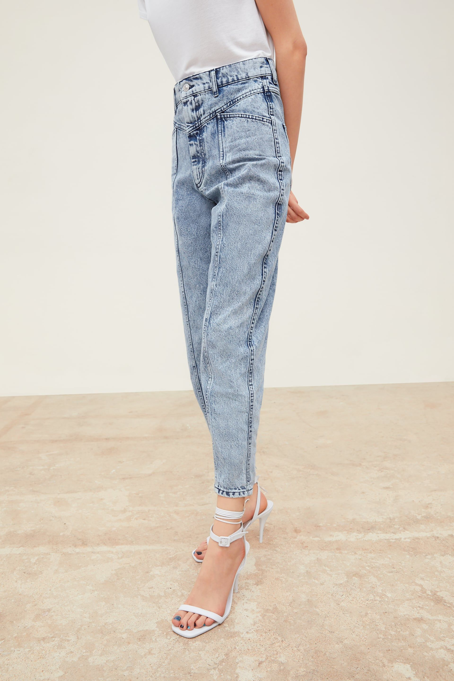 91340e7a ZW PREMIUM '80S BAGGY JEANS IN ACID BLUE - View All-JEANS-WOMAN | ZARA  United States