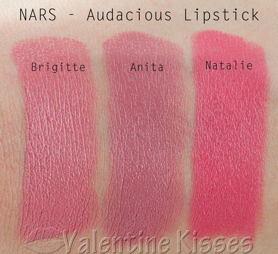 Valentine Kisses Nars Audacious Lipsticks Brigitte Anita Natalie