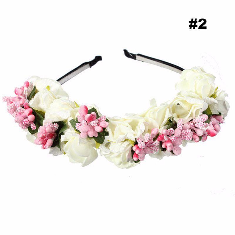 Boho Floral Flower Crown Garland Headband Hair Wedding Party Headpiece Hairband